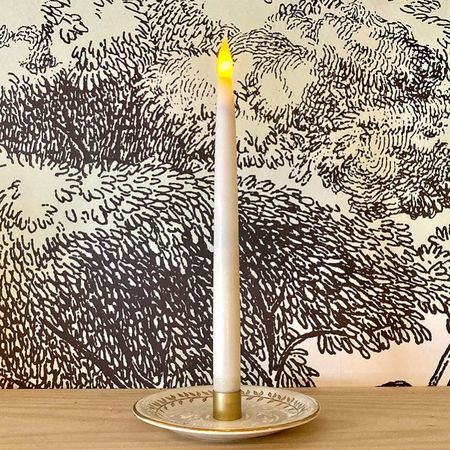 LED wax taper candle with timer - H31cm