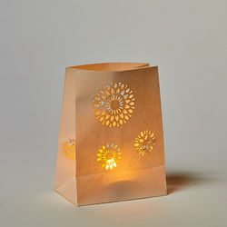 Mandala lantern without LED candle - H15cm