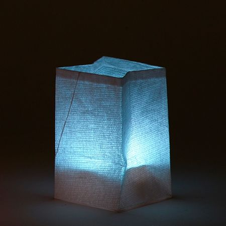 White paper lantern with its 5 colors LED candle