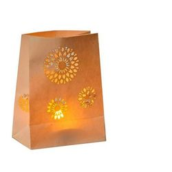 Mandala lantern with LED candle - H15cm