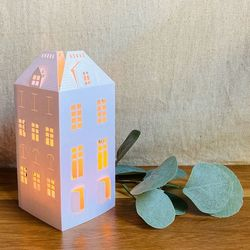 House Candle Holder - H 16.5cm - without LED candle