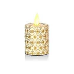 LED candle with moving flame Gold crystals - H5.2CM