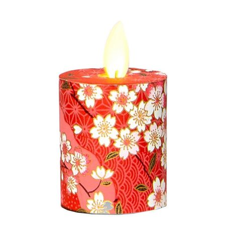 LED candle with moving flame Cherry blossom - H5.2CM