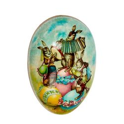 Easter Egg made in paper - traditional design # 2 - h 12 cm