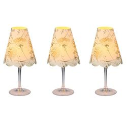 3 lampshades for wine glass - dandelion