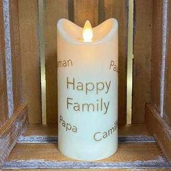 LED candle with moving flame for customization h 15 cm