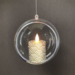 BOUGIE VOTIVE SUSPENDUE VAGUES OR