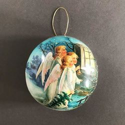 Paper Christmas Bauble - Angels #3 - Ø 10cm