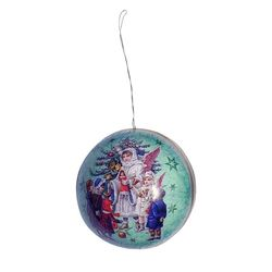 Paper Christmas Ball - Angels # 2 - Ø 8 cm
