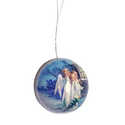 Paper Christmas Bauble - Angels #3 - Ø 8cm