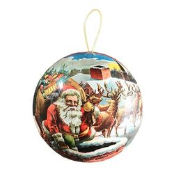 Paper Christmas Ball - Christmas Father  # 1 - Ø 10 cm