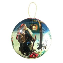 Paper Christmas Bauble - Father Christmas #2 - Ø 10 cm