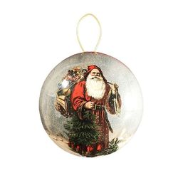 Paper Christmas Bauble - Father Christmas #3 - Ø 10cm