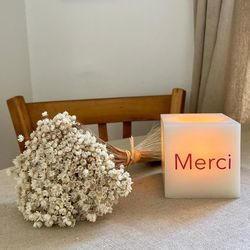 Square and wax led candle for customization