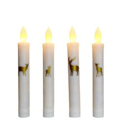 Chandelle LED en cire - Famille Cerf or