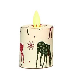 Votive Candle with Moving Flame - Deer - H 5,2 cm