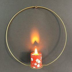 metal holder and LED candle with moving flame