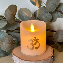 Small wax led candle - symbol Om