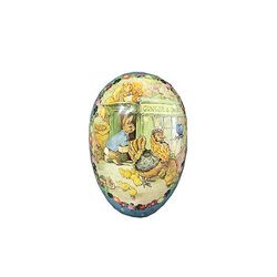 Easter Egg made in paper - Beatrix Potter's design # 1 - h 12 cm