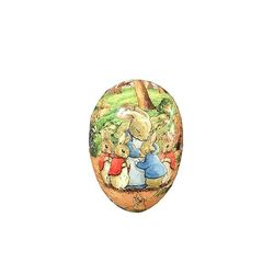 Easter Egg made in paper - Beatrix Potter's design # 2   h 12 cm