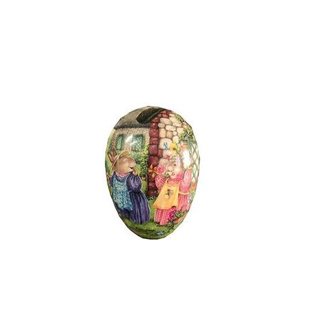 Easter Egg made in paper - traditional design # 8 - h 9 cm