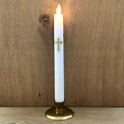 Votive Taper Candle - Baroque Cross #2