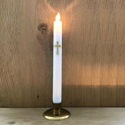 Votive Taper Candle - Contemporary Cross