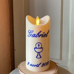 Led candle with moving flame- religious ceremonies