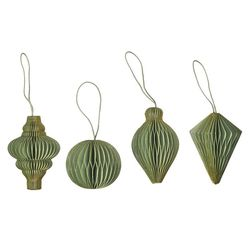 4 Honey Combs for Christmas - Green