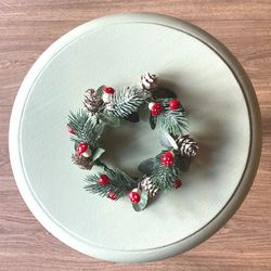 Christmas wreath for candles - Red
