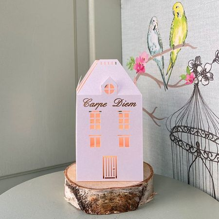A led paper lantern for customization