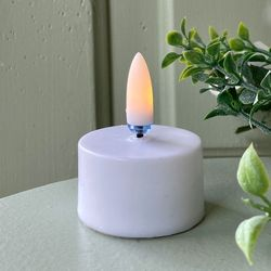 LED warm white tealight candle with wax coating- Ø3.7CM