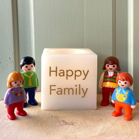 LED candle in wax - Happy Family