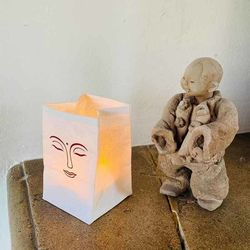 Photophore led - Visage de Bouddha
