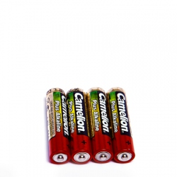 Pack of 4 alkaline AAA/LR3 batteries