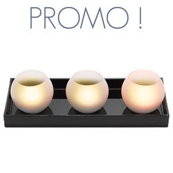 3 photophores de verre led - BOOL