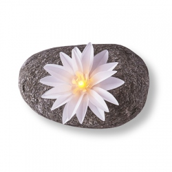 Fleur lumineuse à led – Grand lotus blanc
