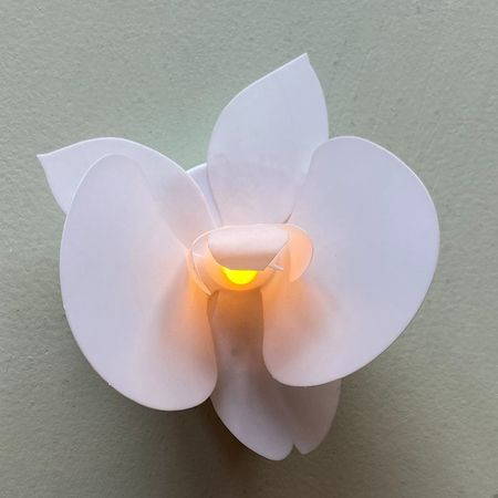 Fleur lumineuse led ORCHIDEE blanche - Ø9.5CM