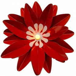 LED Red Lotus Ø 13 cm