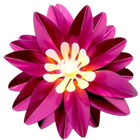 Fleur lumineuse à led – Grand lotus coloris rose fuchsia
