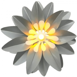 A luminous small lotus thanks to its LED candle - Silver
