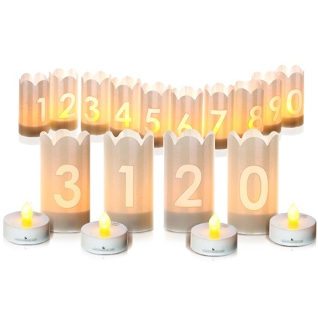 LED Candle holders - 4 figures