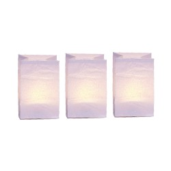 3 handcrafted paper tea light holders - White