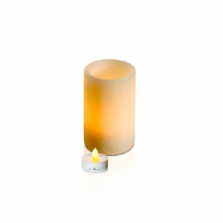 LED textured wax candle holder - 7.5X12 cm