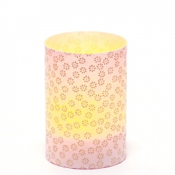 LED candle holder Small Gold Flowers - H 9 cm