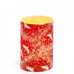 LED candle holder Red cranes - H9CM