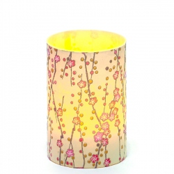 LED candle holder Little flowers - H9CM
