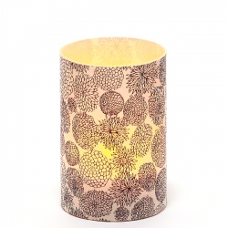 LED candle holder Chrysanthemum - H 9 cm