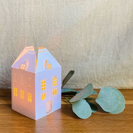 House Candle Holder - H 13.5cm - without LED candle