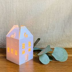 House Holder made in Paper H 13,5cm - without LED candle